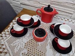 Retró Kispesti Gránit kávés.- teáskészlet
