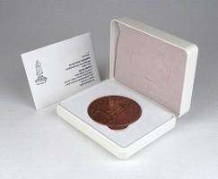 1C753 A Dugonics Társaság centenáriumi bronz plakettje díszdobozban