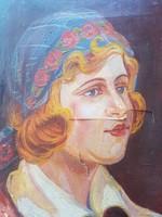 Koleszár Gy. 1933. jelz.. : Fiatal női portréja