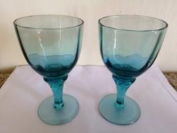Színes üvegű likőrös poharak 2db
