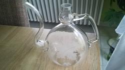 Szőlő leveles huta üveg kancsó