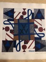 """""""ZSÓFIA""""  Jávor Piroska (1944 - ) szita , kézzel merített vastag papírra , készült 2008  Szentendrén"""