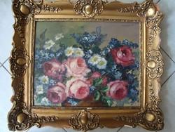 Murin Vilmos: Virágcsendélet.