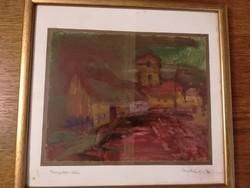 Templomköz akvarell