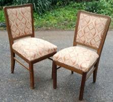 Art deco kárpitozott szék 2 db