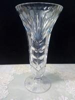 Gyönyörű,régi csiszolt üveg váza