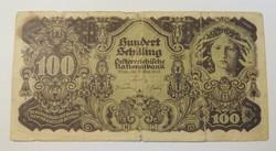 Viseltes osztrák 100 Schilling 1945, G.