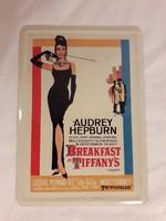 Audrey Hepburn reklám fém képeslap