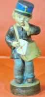 Gondos József - ritka,antik postás fiú kerámia figura