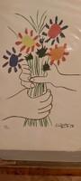 Pablo Picasso-Le bouquet litográfia