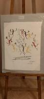 Pablo Picasso-Der Tanz litográfia