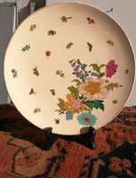 Schütz Cilli fali tányér gyüjteménybe. Gyönyörű falitál virágmintás. Szecessziós.