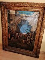 Nagy Dániel Ferenc festmény 134 x 84 cm