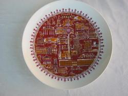 Wallendorf porcelán fali tál