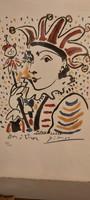 Pablo Picasso-Karneval 1958 litográfia