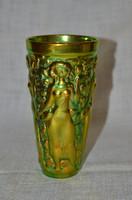 Zsolnay eozin szüretelő pohár