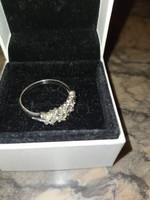 Fehér citrin köves ezüst gyűrű