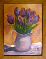 Moona - Tulipánok I. EREDETI olajfestmény