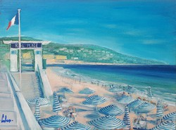 Cote d'Azur - Oil Painting