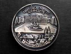 MÉE Zala megye - Zalaegerszeg 1985, ezüstpatinázott bronz emlékérem.