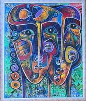 Hatalmas festmény - Simeon Gonzáles - Pareja Suenos Andinos (Andok-i álompár) - 1.