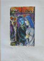 Gyönyörű,  ritka Chagall  rézkarc, leárazásnál nincs felező ajánlat!