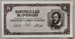 1,000,000 B.-Pengő 1946 UNC