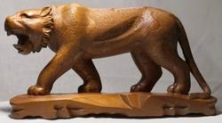 Nagyméretű Bengáli tigris szobor Suar fából