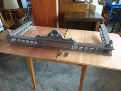 Régi antik bútor nagy méretű granc léc vintage komód szekrény tálaló bútordísz