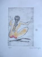 Csodálatos Kees van Dongen akvarellel színezett rézkarc