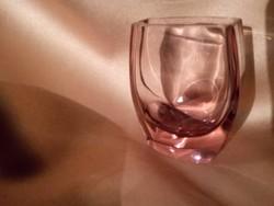 Mini cseh üveg ibolya váza