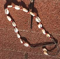 Kagylókból készített régi nyaklánc / karkötő