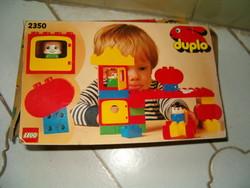 Retro DUPLO lego játék papírdoboza 2350 számú így ránézésre 1985 körüli trafik áru  KIÁRUSÍTÁS