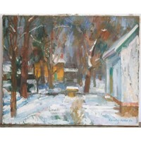 Kántor Andor: Tél a művésztelepen