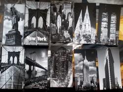 Uj New York panoramikus kepeslapok