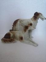 ART DECO GRAFENTHAL Orosz agár pár borsoi német porcelán Carl Scheidig Grafenthal