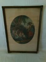 Antik litográfia XIX sz.második feléből W.Hamilton/ F.Bartolozzi munkája Noon cimmel