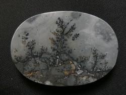 Természetes achát-jáspis ásvány, ovális forma kaboson csiszolással. Foglalható ékszeralapanyag.