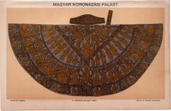 Koronázási palást, színes nyomat 1896, magyar, király, koronázás, királyság, litográfia, Pallas