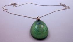 925-ös ezüst lánc zöld függővel