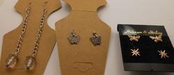 4 darab 925-ös ezüst fülbevaló