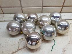 Retro, ezüst színű karácsonyfa dísz 9 db eladó!