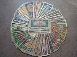 54 darabos magyar vegyes pengő bankjegy LOT (id38845)
