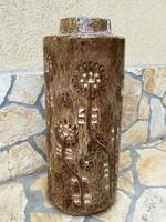 Zsolnay nagyméretű pirogránit mázas kerámia padlóváza