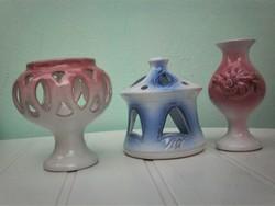 Mécsestartó 2 db és egy váza