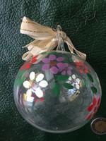 Antik üveg gömb karácsonyfadísz