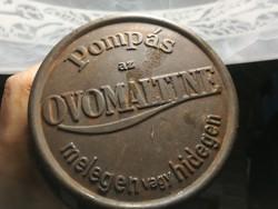 Ovomaltine doboz, kakaós fém doboz fedeles eredeti darab antik.