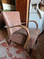 Art deco fotelek, műbőr kárpittal