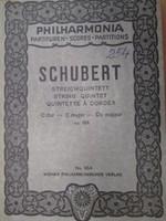 Franz Schubert. Streichquintett. String Quintett c dur - kotta