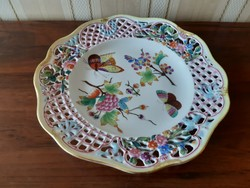 Herendi XIX.sz. Viktória mintás áttört tányér,muzeális darab!!!